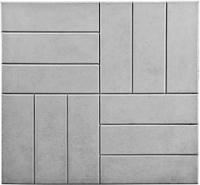 """Тротуарная плитка """"12 кирпичей"""" 500х500х50 мм серый"""