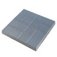 """Тротуарная плитка """"8 кирпичей"""" 400х400х50 мм серый"""
